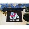 "FANMATS Fresno State Man Cave Starter Rug 19""x30"" - black"