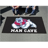 FANMATS Fresno State Man Cave Tailgater Rug 5'x6' - black