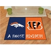 "FANMATS NFL - Denver Broncos/Cincinatti Bengals House Divided Rugs 33.75""x42.5"""