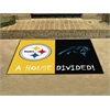 "FANMATS NFL - Pittsburgh Steelers/Carolina Panthers House Divided Rugs 33.75""x42.5"""