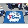 FANMATS NBA - Philadelphia 76ers Tailgater Rug 5'x6'