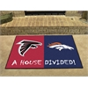 "FANMATS NFL - Atlanta Falcons/Denver Broncos House Divided Rugs 33.75""x42.5"""