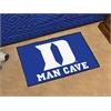 """FANMATS Duke """"D"""" Man Cave Starter Rug 19""""x30"""""""