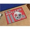 "FANMATS Rutgers Uniform Inspired Starter Rug 19""x30"""