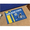 "FANMATS San Jose State University Uniform Inspired Starter Rug 19""x30"""