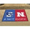 "FANMATS Creighton / Nebraska House Divided Rug 33.75""x42.5"""