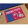 "FANMATS Fresno State Uniform Inspired Starter Rug 19""x30"""