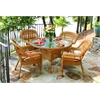 Tortuga Outdoor Portside 5Pc Dining Set - Amber - Eastbay Pompeii