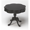 Chatham Black Licorice Clover Pedestal Table, Black Licorice