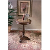 Etched Brass Round Pedestal Table, Heritage