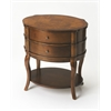 BUTLER Oval Side Table, Umber
