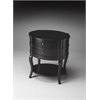 Butler Jarvis Black Licorice Oval Side Table, Black Licorice