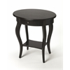 Jeanette Brushed Sable Oval Accent Table, Brushed Sable