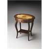 Jeanette Plantation Cherry Oval Accent Table, Plantation Cherry