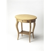 Jeanette Parrafin Oval Accent Table, Paraffin