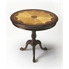 Carissa Plantation Cherry Round Pedestal Table, Plantation Cherry