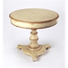 Langley Cream & Gold Painted Foyer Table, Cream & Gold