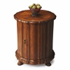 Maxfield Vintage Oak Drum Table, Vintage Oak