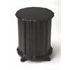 BUTLER Drum Table, Plum Black