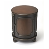 Butler Thurmond Café Noir Drum Table, Café Noir
