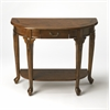Butler Kimball Vintage Oak Console Table, Vintage Oak