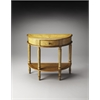 Butler Mozart Tuscan Cream Hand Painted Demilune Console Table, Tuscan Cream Hand Painted