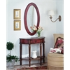 Butler Mozart Red Hand Painted Demilune Console Table, Red Hand Painted