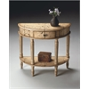 BUTLER Demilune Console Table, Winter Forest
