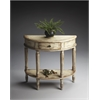 Mozart Chateau Gray Demilune Console Table, Chateau Gray