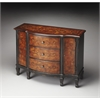 Sheffield Black & Tan Inlay Console Cabinet, Black & Tan