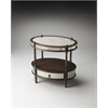 Butler Barrington Mirrored Pecan Oval Accent Table, Mirrored Pecan