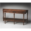 Merrion Olive Ash Burl Console Table, Olive Ash Burl