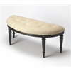 Butler Tamara Black Licorice Demilune Bench, Black Licorice