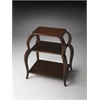 Shelby Plantation Cherry Tiered Side Table, Plantation Cherry