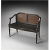 Butler Grayson European Black Painted Bench, European Black