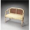 Grayson Cream & Gold Painted Bench, Cream & Gold