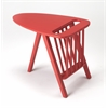 Lowery Red Magazine Table, Red