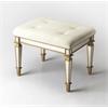 Butler Celeste Mirror & Gold Vanity Seat, Mirror & Gold