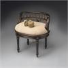 BUTLER Vanity Seat, Café Noir