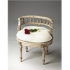 Hathaway Gilted Cream Vanity Seat, Gilted Cream