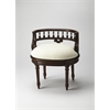 Hathaway Madrid Brown Vanity Seat, Madrid Brown