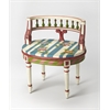 BUTLER HATHAWAY HAND PAINTED VANITY SEAT