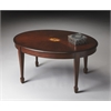 Clayton Plantation Cherry Oval Cocktail Table, Plantation Cherry