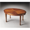 Clayton Olive Ash Burl Oval Cocktail Table, Olive Ash Burl