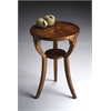 BUTLER Round Accent Table, Olive Ash Burl