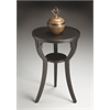 Butler Dalton Black Licorice Round Accent Table, Black Licorice