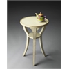 Dalton Cottage White Round Accent Table, Cottage White