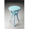 Dalton Sky Blue Round Accent Table, Sky Blue