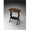 Briar Regal Black Hand Painted Accent Table, Regal Black