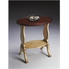 Briar Vanilla & Cherry Oval Accent Table, Vanilla & Cherry